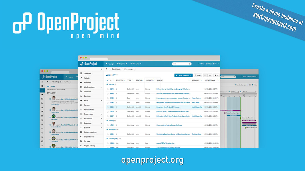 openproject.org Create a demo instance at star...