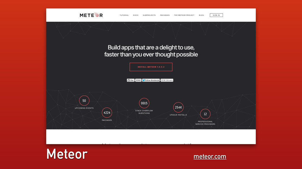 meteor.com Meteor 50 UPCOMING EVENTS 4224 PACKA...