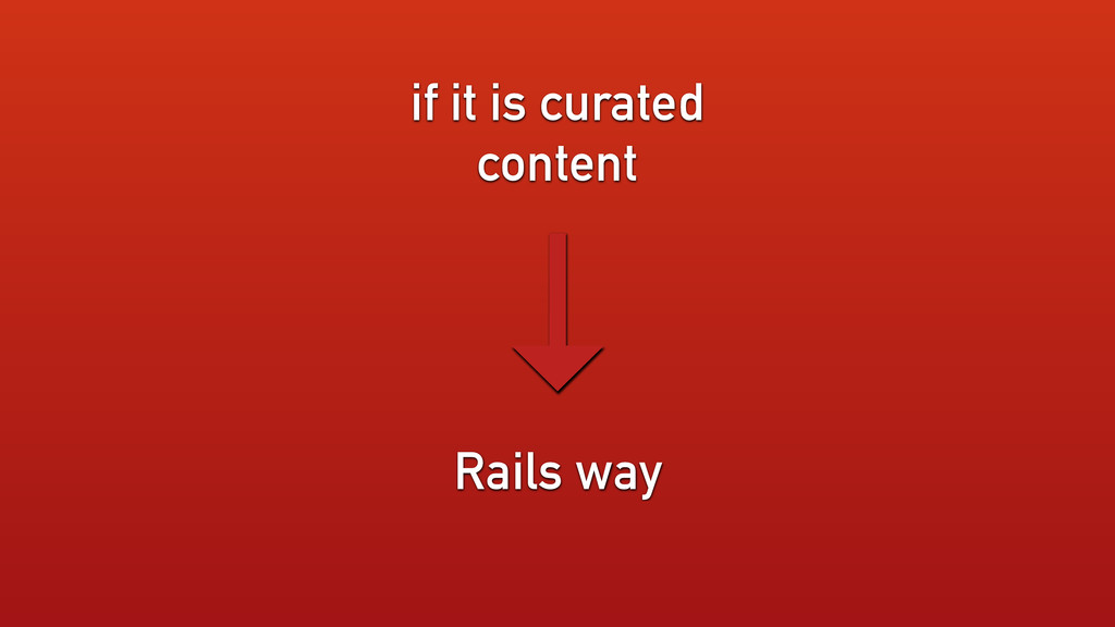 if it is curated content Rails way →