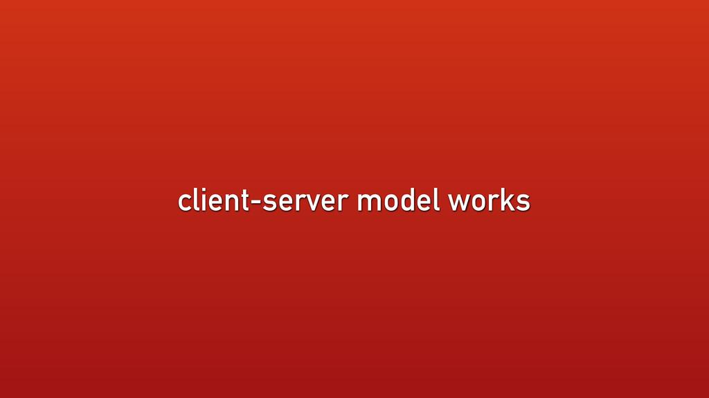 client-server model works