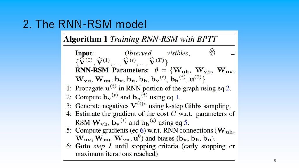 2. The RNN-RSM model 8