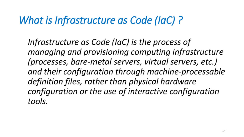 What is Infrastructure as Code (IaC) ? Infrastr...