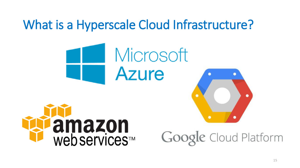 What is a Hyperscale Cloud Infrastructure? 15