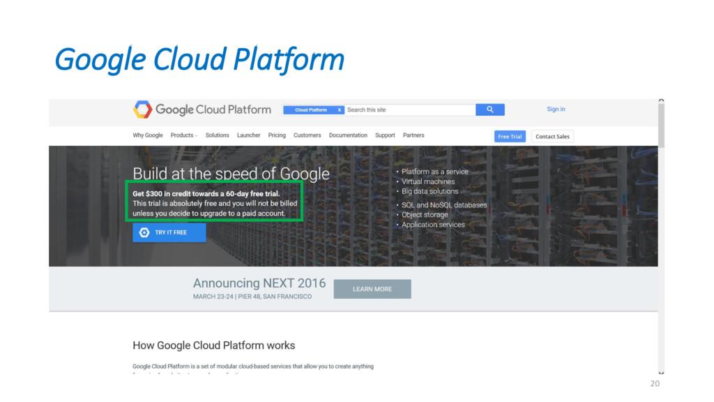 Google Cloud Platform 20