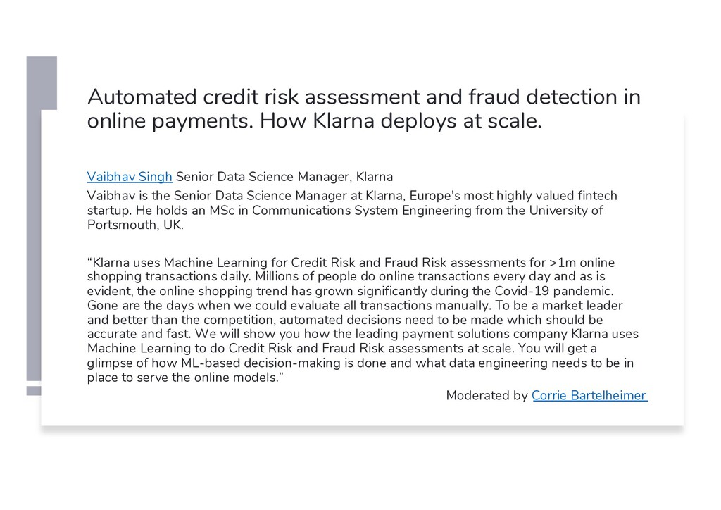 Automated credit risk assessment and fraud dete...