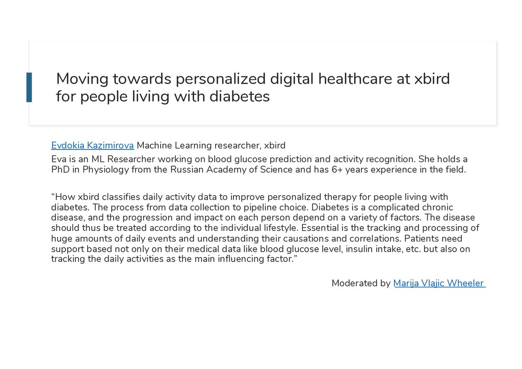 Moving towards personalized digital healthcare ...