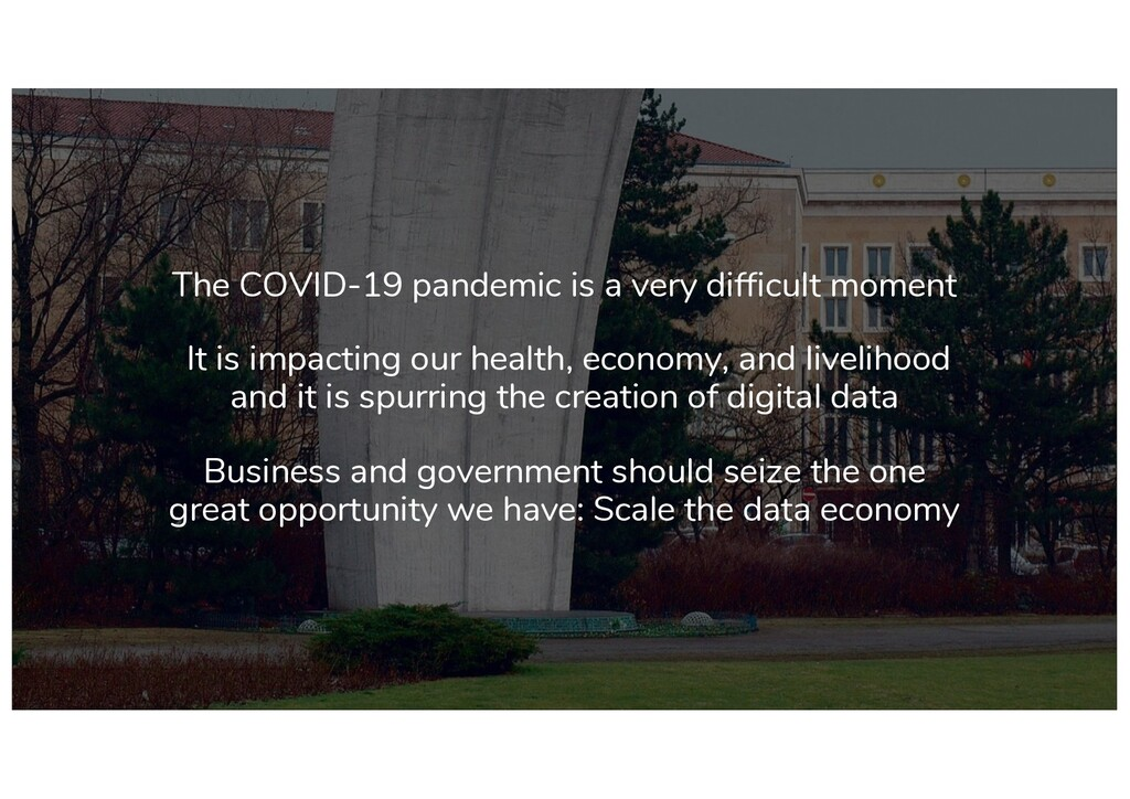 The COVID-19 pandemic is a very difficult momen...