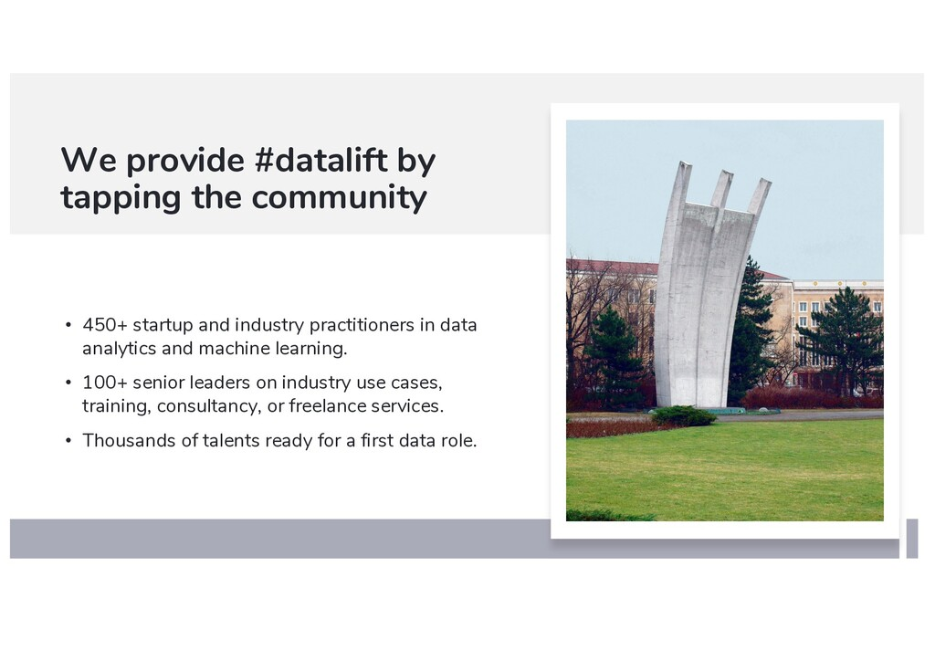 We provide #datalift by tapping the community •...