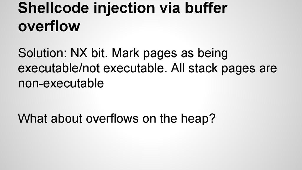Shellcode injection via buffer overflow Solutio...