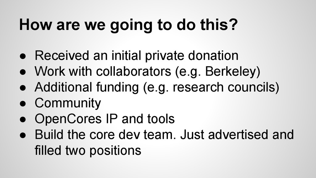 How are we going to do this? ● Received an init...