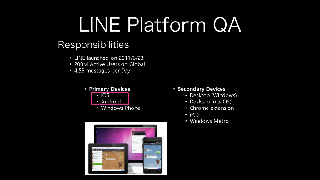 """-*/&1MBUGPSN2"""" • LINE launched on 2011/6/23 •..."""