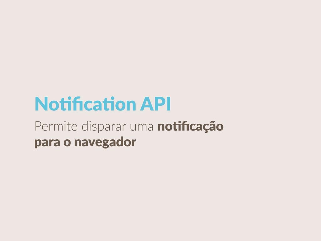 NoCficaCon API Permite disparar uma noCficaçã...