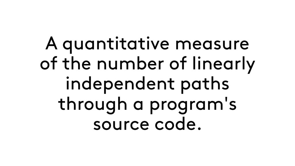A quantitative measure of the number of linearl...