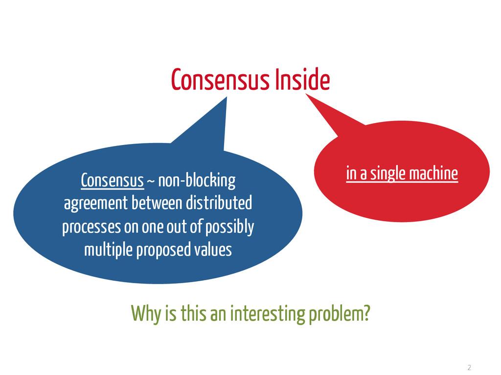 Consensus Inside 2 Consensus ~ non-blocking agr...