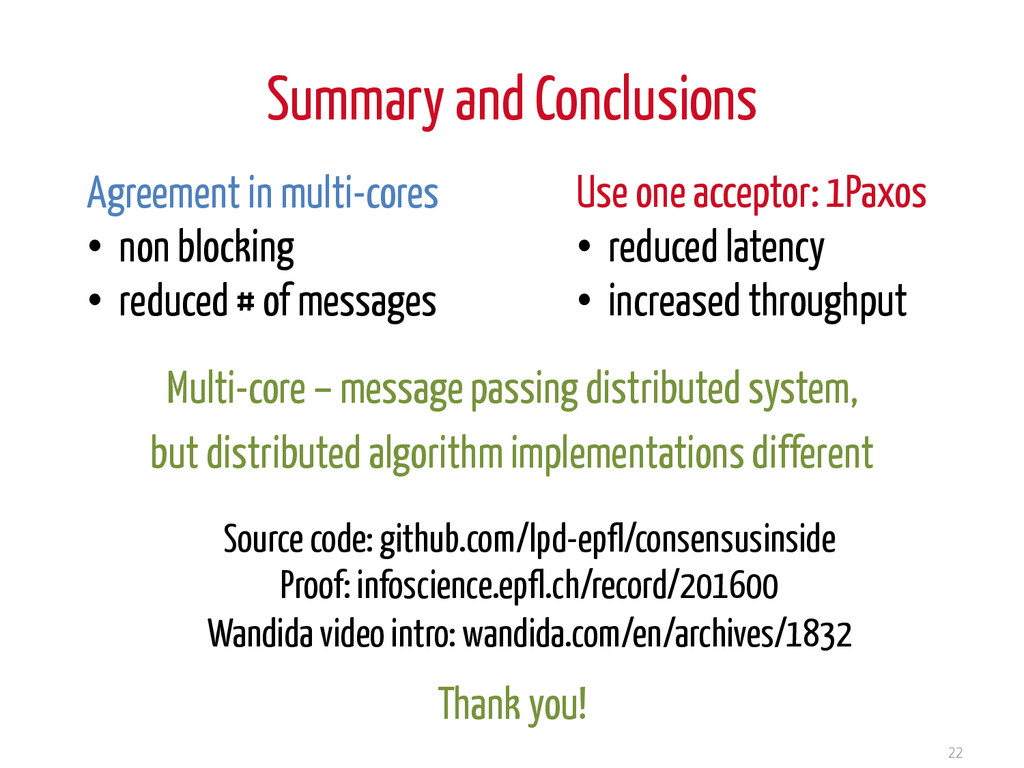 Summary and Conclusions 22 Source code: github....