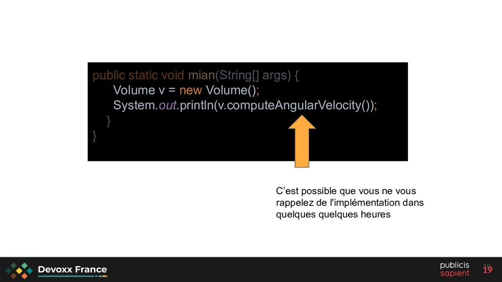19 public static void mian(String[] args) { Vol...