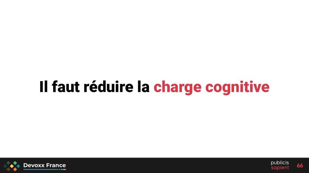 66 Il faut réduire la charge cognitive