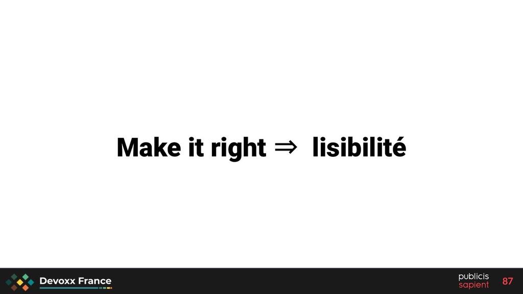 87 Make it right ⇒ lisibilité