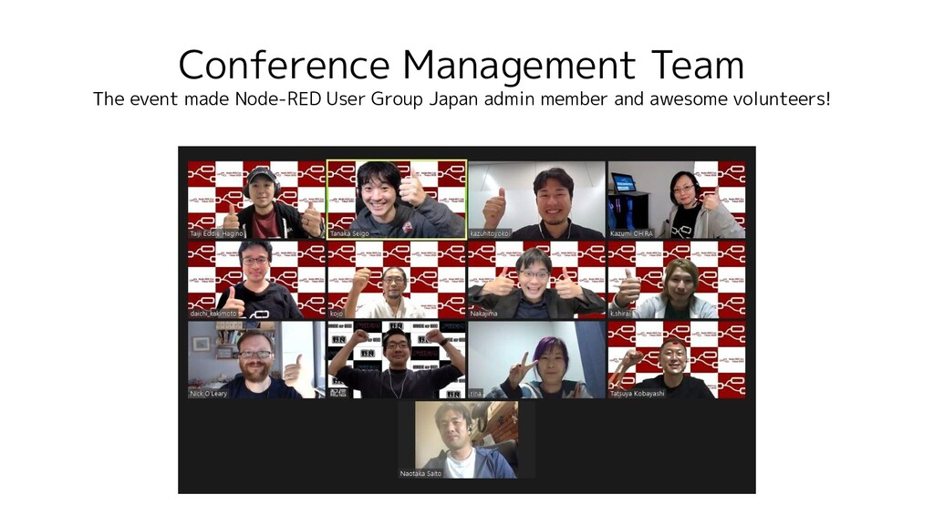 Conference Management Team The event made Node-...