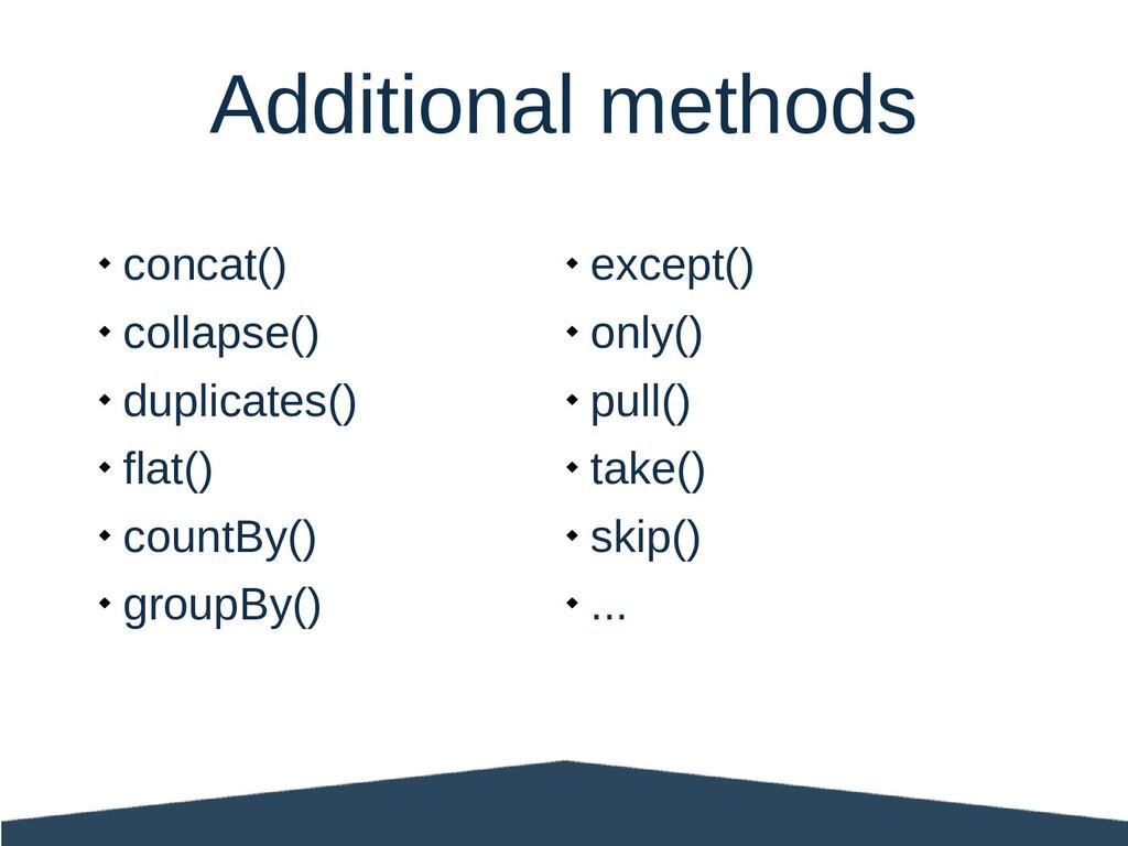  concat()  collapse()  duplicates()  flat()...