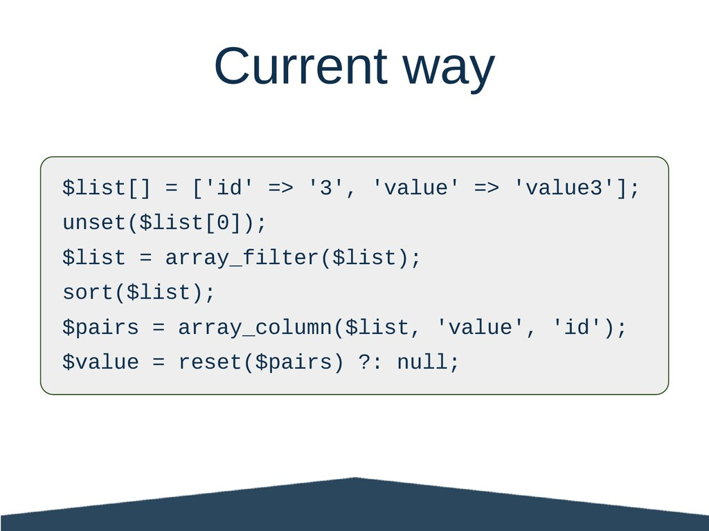 $list[] = ['id' => '3', 'value' => 'value3']; u...