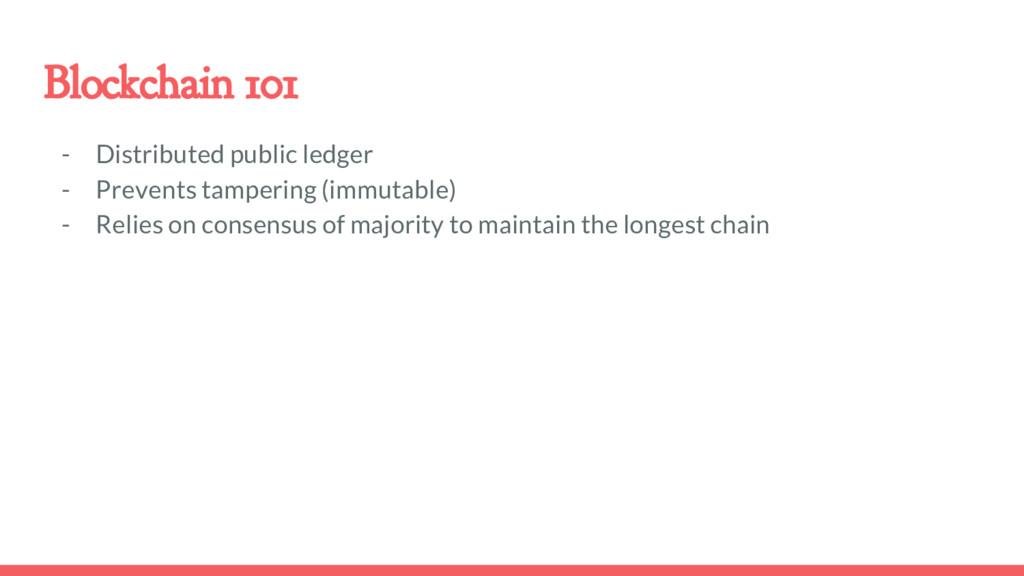 Blockchain 101 - Distributed public ledger - Pr...