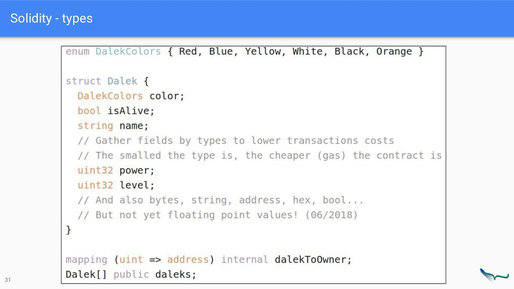 Solidity - types 31