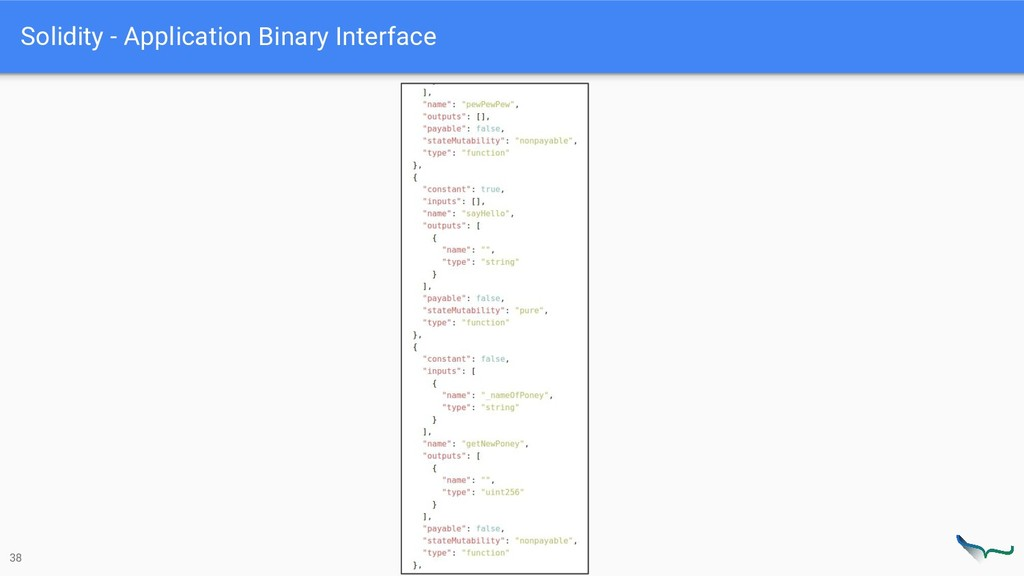 Solidity - Application Binary Interface 38