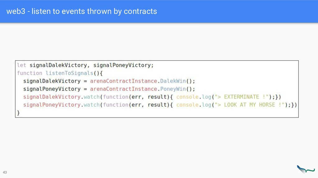 web3 - listen to events thrown by contracts 43
