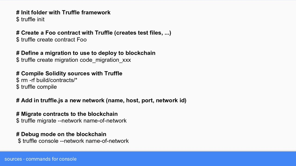 sources - commands for console # Init folder wi...