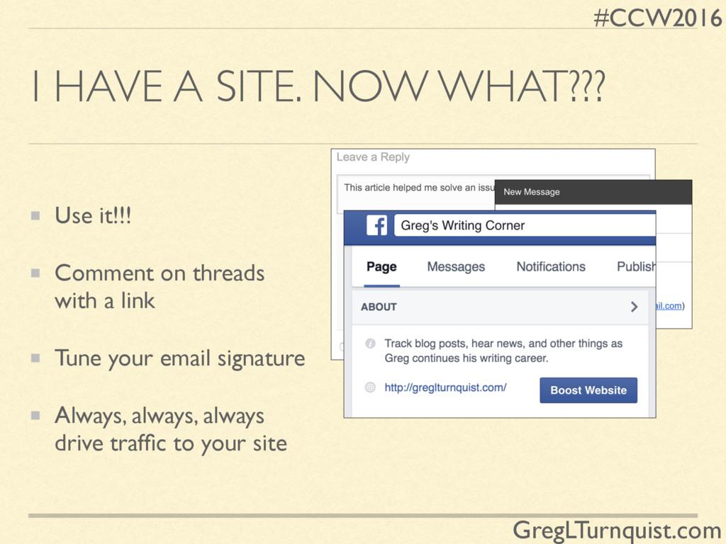 #CCW2016 GregLTurnquist.com I HAVE A SITE. NOW ...
