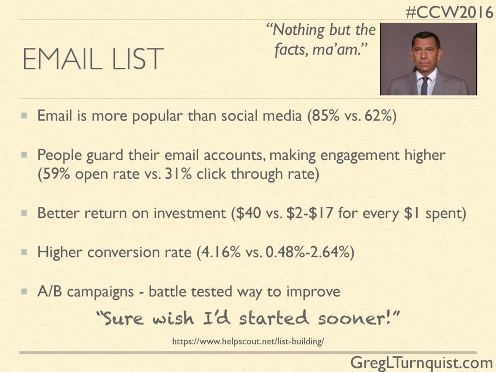 #CCW2016 GregLTurnquist.com EMAIL LIST Email is...