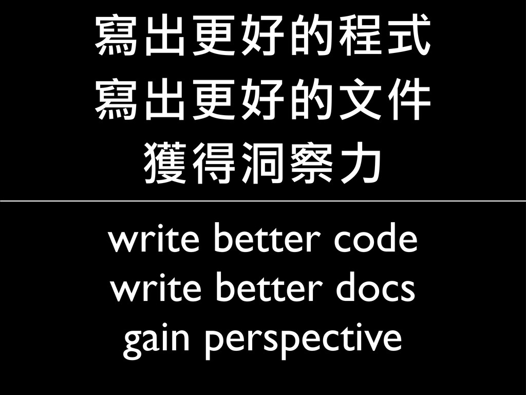 write better code write better docs gain perspe...