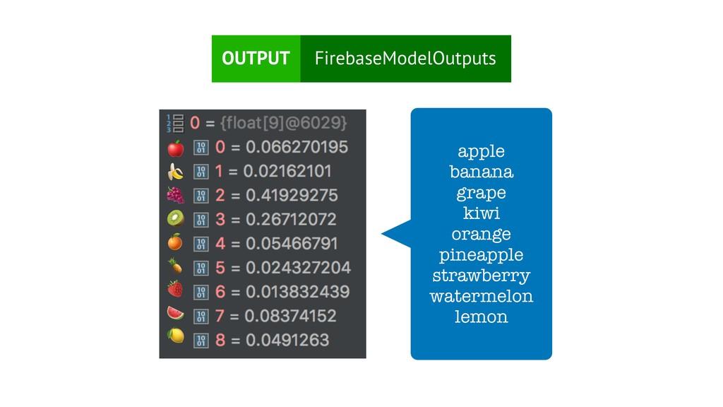 FirebaseModelOutputs OUTPUT apple bana...