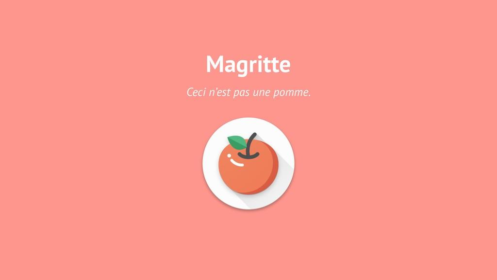 Magritte Ceci n'est pas une pomme.