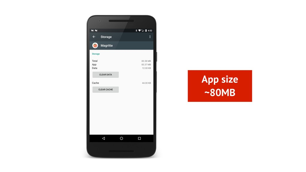App size ~80MB