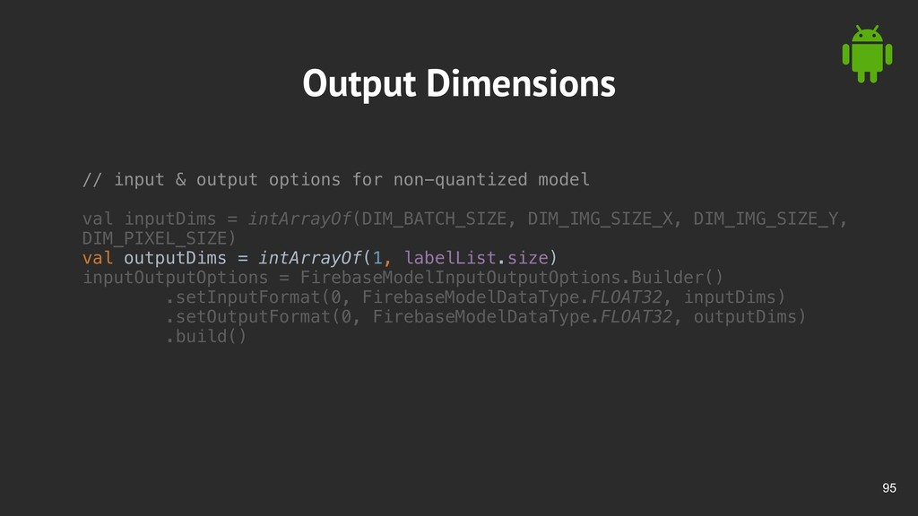 !95 Output Dimensions // input & output options...