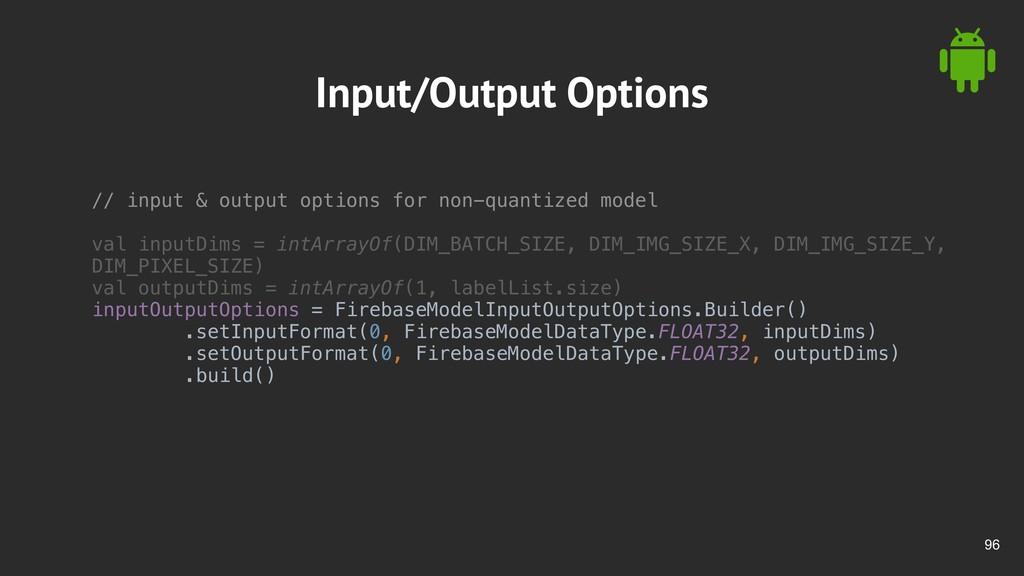 !96 Input/Output Options // input & output opti...