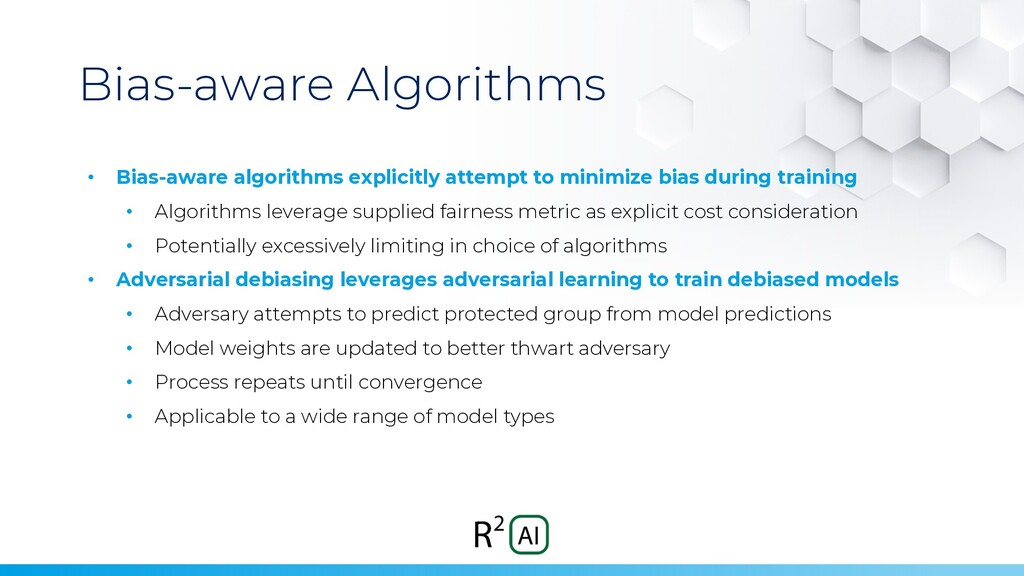 Bias-aware Algorithms • Bias-aware algorithms e...