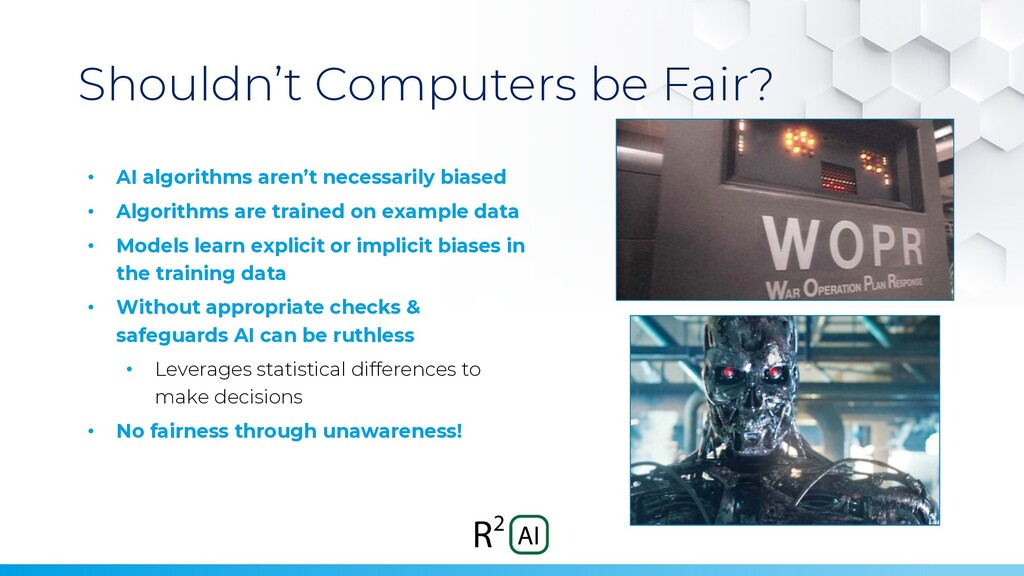 Shouldn't Computers be Fair? • AI algorithms ar...