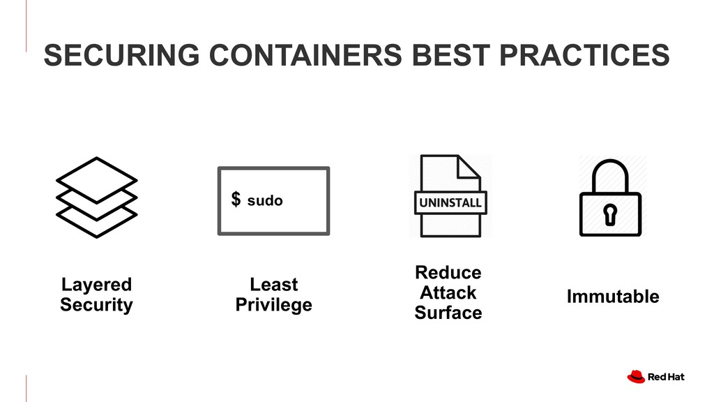 SECURING CONTAINERS BEST PRACTICES Reduce Attac...
