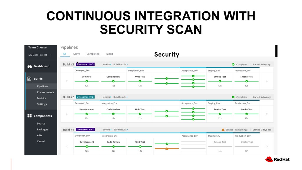 Security CONTINUOUS INTEGRATION WITH SECURITY S...
