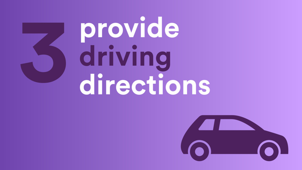 provide driving directions 3