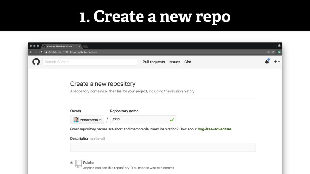 1. Create a new repo