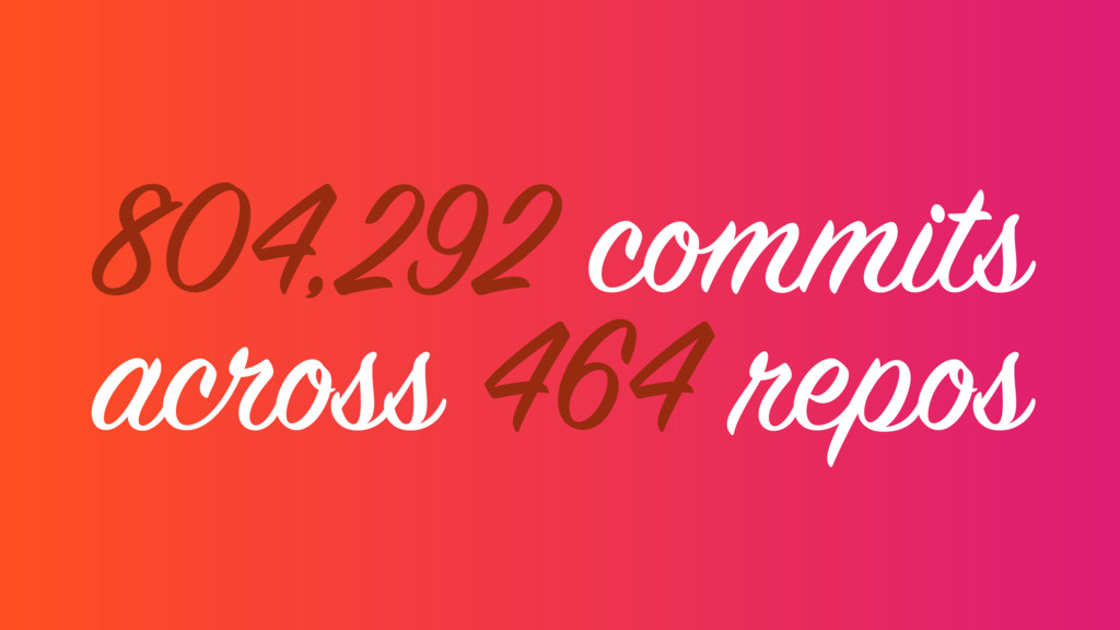 804,292 commits across 464 repos