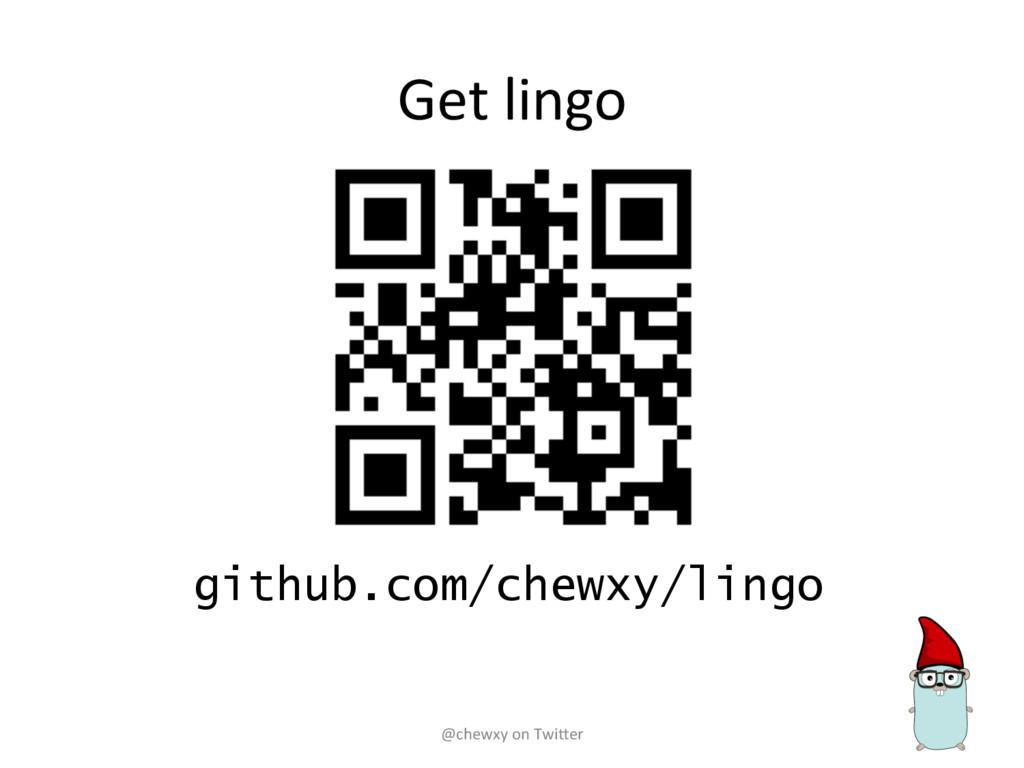 Get lingo github.com/chewxy/lingo @chewxy on Tw...