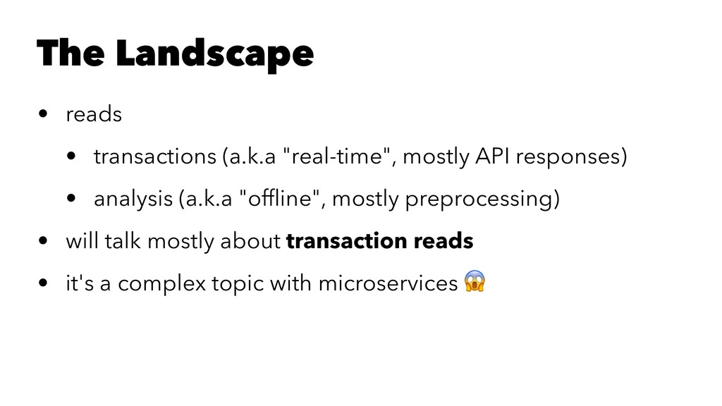 "The Landscape • reads • transactions (a.k.a ""re..."