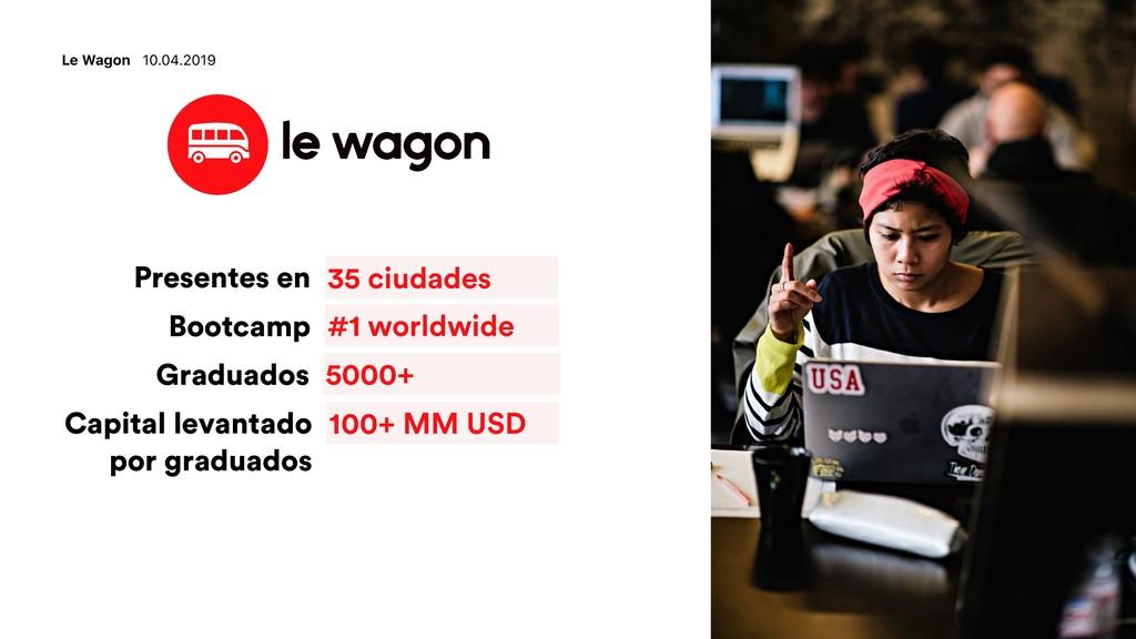 Le Wagon 10.04.2019 35 ciudades Presentes en #1...