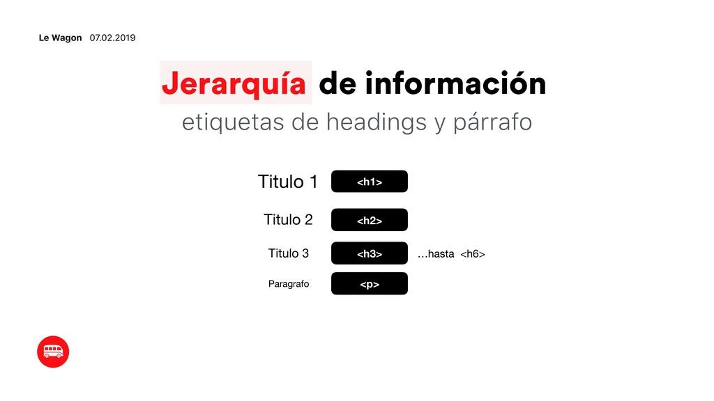 Le Wagon 07.02.2019 Jerarquía de información et...