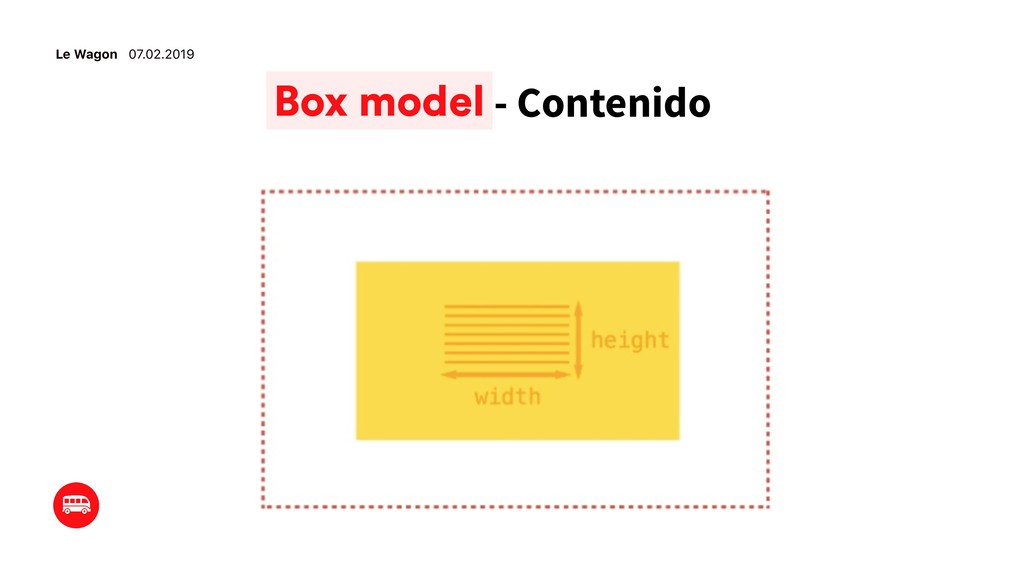 Le Wagon 07.02.2019 - Contenido Box model